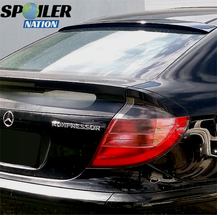 2001 2007 mercedes benz c class coupe euro rear window spoiler. Black Bedroom Furniture Sets. Home Design Ideas