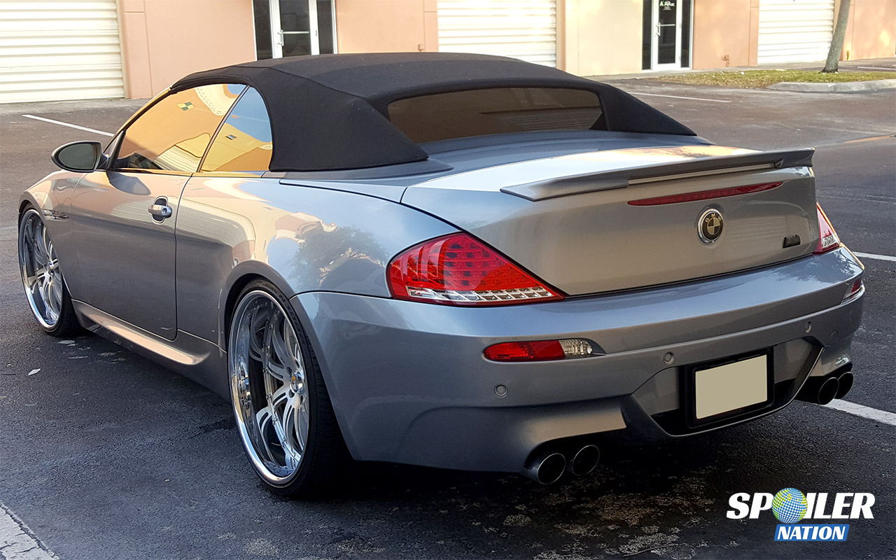 2007 2010 bmw 6 series convertible sport rear lip spoiler. Black Bedroom Furniture Sets. Home Design Ideas