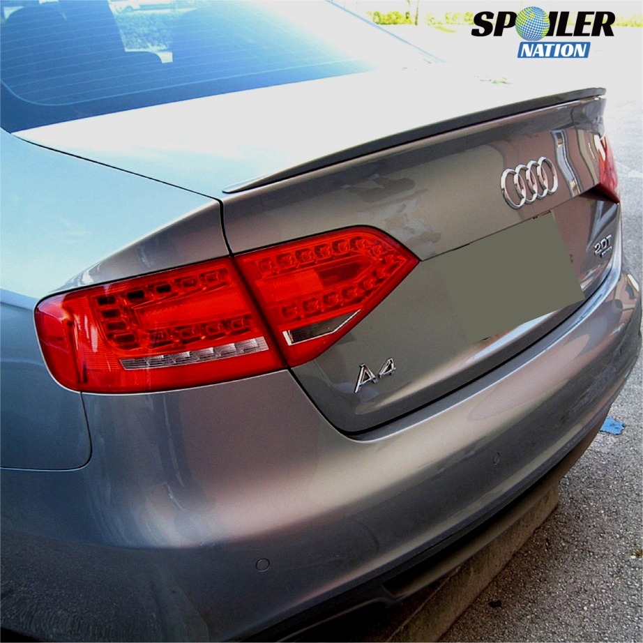 ... 2009 2015 audi a4 sedan euro style rear trunk lip spoiler ...