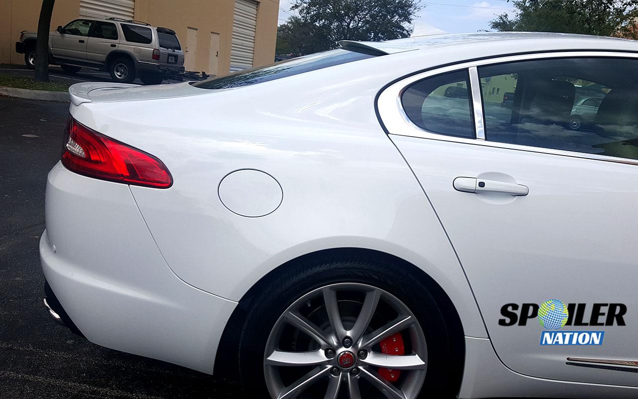 2009 2015 jaguar xf xfr sport style rear window spoiler. Black Bedroom Furniture Sets. Home Design Ideas