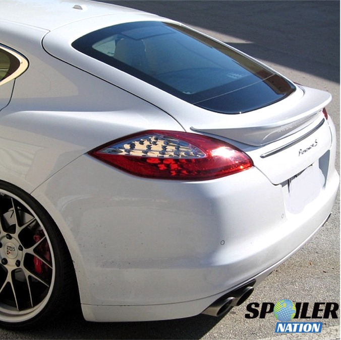 2010 2013 porsche panamera turbo sport style rear trunk lip spoiler