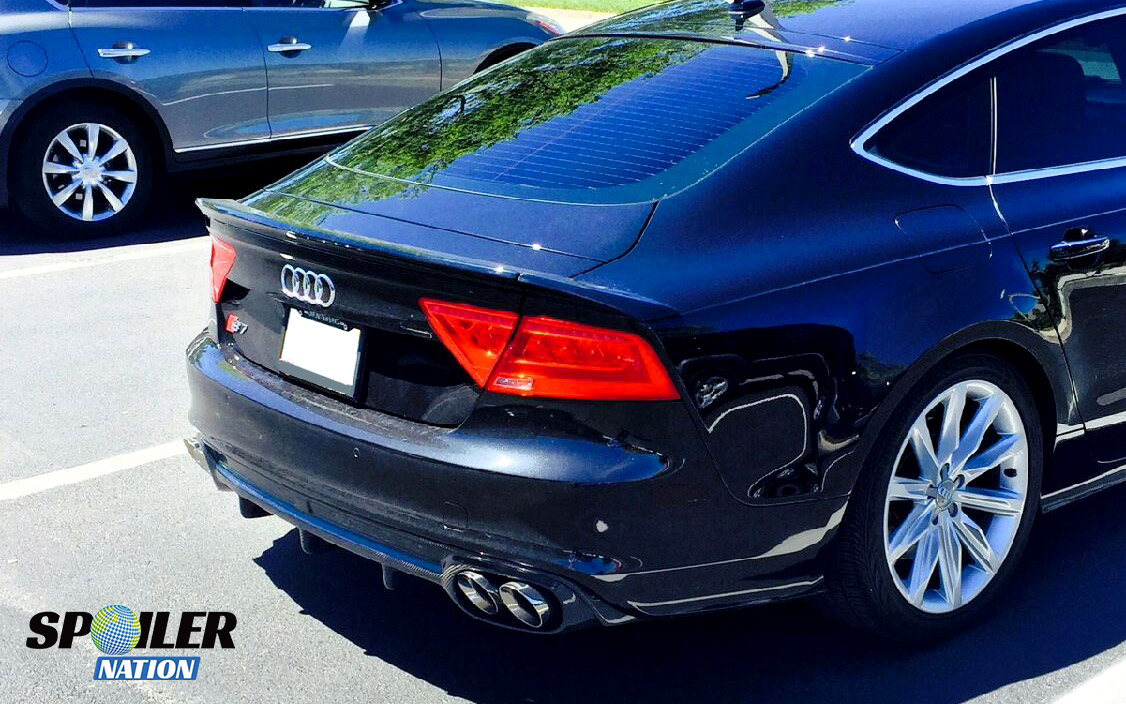 2010 2017 Audi A7 Rs7 S7 Sedan Tesoro Style Rear 3pc Trunk Lip Spoiler