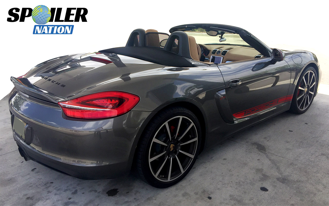 2013 2016 Porsche Boxster Ducktail Rear Wing Spoiler