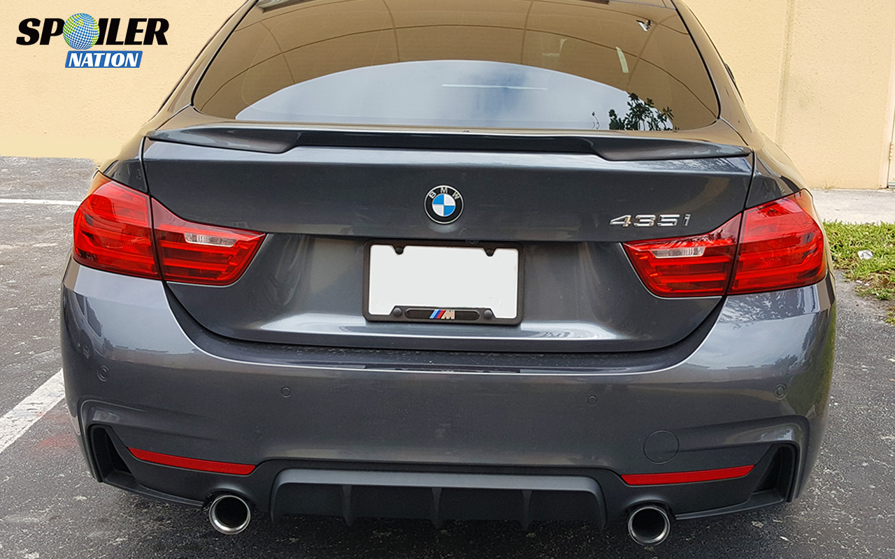 2014 2016 bmw 4 series gran coupe sport style rear trunk lip spoiler. Cars Review. Best American Auto & Cars Review