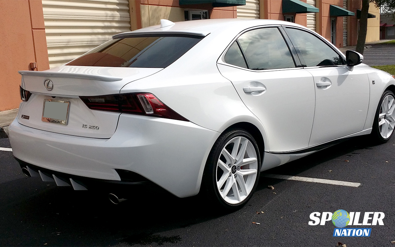 2014 2016 lexus is250 is350 sport style rear trunk spoiler. Black Bedroom Furniture Sets. Home Design Ideas