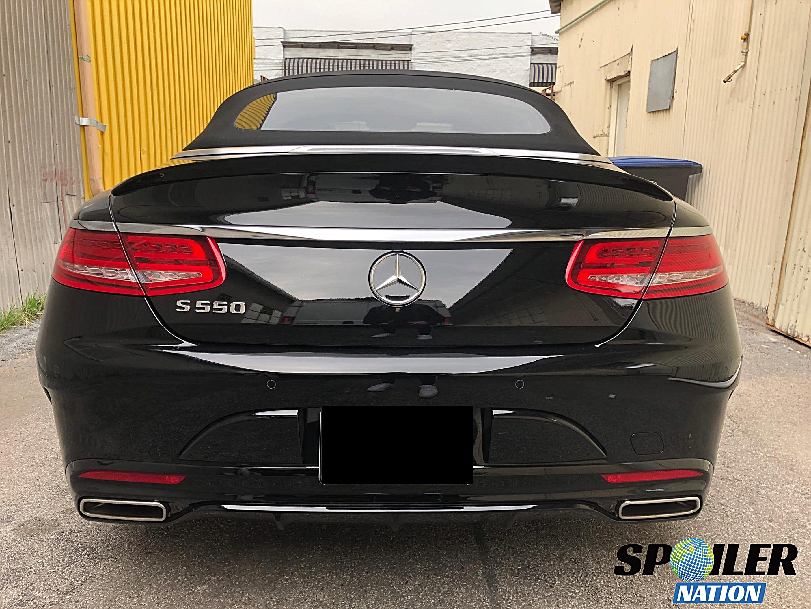 2016 2019 Mercedes S Cl Convertible Tuner Rear Lip Spoiler